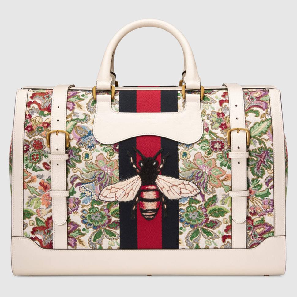 ba47ebc631df #ClientStyle Gucci Floral Tapestry Duffle Bag | Client Voyage